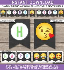 emoji theme birthday party printables emoji party templates