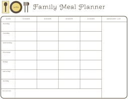 weekly month planner template for food google search healthy