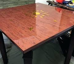 clear table top protector unfinished round wood table tops wood furniture top protectors clear