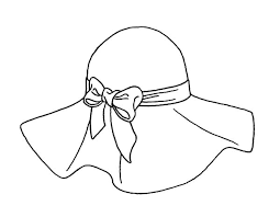 Hat Tied With Bow Coloring Pages Hat Tied With Bow Coloring Pages Coloring Page Of A Hat