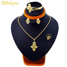 accessories ring necklace images Ethlyn traditional small cross gold color ethiopian eritrean jpg