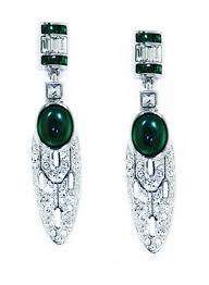 art deco vert earrings v u0026a the victoria and albert museum