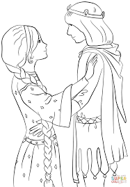 rapunzel with prince coloring page free printable coloring pages