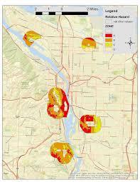 Map Of Portland by Close To Home Relative Hazards U0026 Income Surrounding Portland