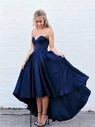 blue graduation dresses sweetheart neck high low blue prom dress blue high low