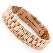 rose gold white gold bracelet images Solid gold mens bracelet rolex style 18k white gold rose gold jpg