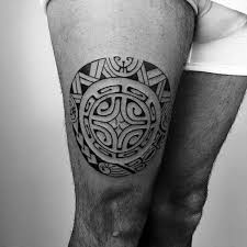 30 tribal thigh tattoos for manly ink ideas
