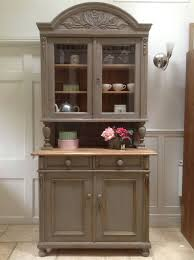 antique victorian french glazed dresser solid pine kitchen display