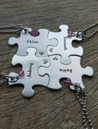 customizable necklace puzzle necklace name and personalized