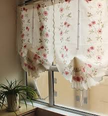 White Balloon Curtains Pastoral And White Balloon Curtains For Living Room