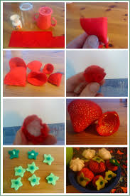 how to make felt strawberries gingerbread