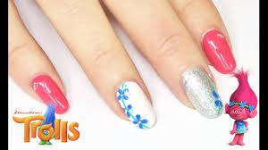 trolls inspired nail art design michela parisi youtube
