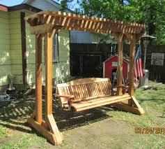 Backyard Swing Ideas Outdoor Swing Frames Made Cedar Porch Swings Adirondack