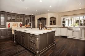Black And White Kitchen Tile by White Kitchen Cabinets With Dark Hardwood Floors Wooden Varnished