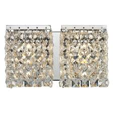 glimmering crystal shades define this sophisticated two light