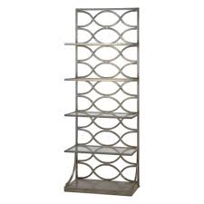 trellis pattern iron etagere in antique silver leaf finish
