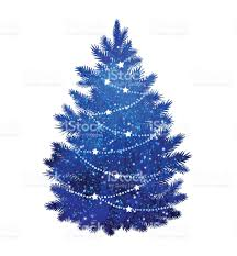 blue christmas tree on white background stock vector art 621587510