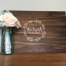unique wedding guest book alternatives floral wreath with name guest book alternative wedding guest