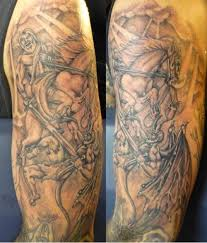 heaven hell half sleeve tattoos real photo pictures images and
