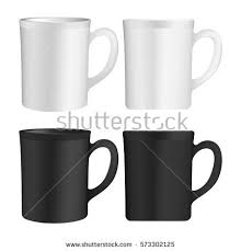 white cup template ready your design stock vector 573302107
