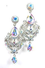 silver dangle earrings for prom buy bridal wedding prom earrings vintage chandelier