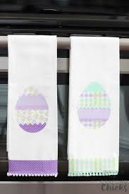 diy no sew easter kitchen towels crafting
