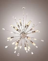 large mid century modern sputnik light fixture italian starburst