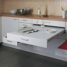 table cuisine escamotable tiroir table escamotable sous plan de travail maison design bahbe com