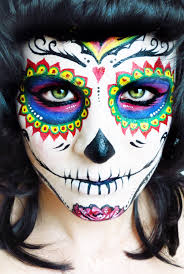 sugar skull face paint tutorial day of the dead nk youtube