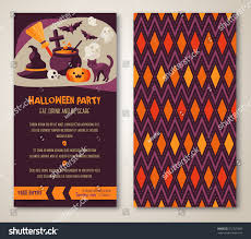 halloween two sides poster flyer vector stock vector 212727895
