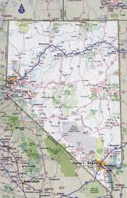 Road Map Of Michigan Large Detailed Roads And Highways Map Of Nevada State With Cities