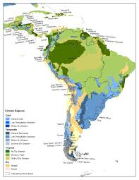 america climate zones map climate of the water basins of america and the caribbean