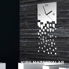 wall clock modern modern wall mirror home imageneitor