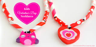 easy kids valentine u0027s day necklaces