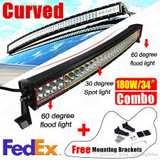 60 inch led light bar 32 inch 180w curved spot flood combo beam led light bar for work