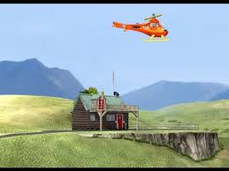 fireman sam helicopter burning house action game