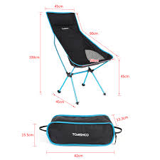 tomshoo new design portable outdoor camping hiking fishing chair
