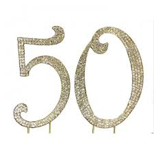 50th cake topper buy sparkle cake toppers 50 birthday anniversary online