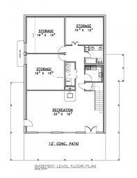 3 Bedroom House With Basement Outstanding Alternate Basement Floor Plan 1st Level 3 Bedroom