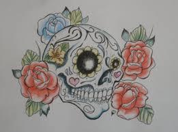 sugar skull tattoo no3 by kaydeeire on deviantart