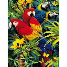 aliexpress com buy diy diamond painting parrot diamond