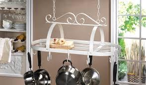 Kitchen Hanging Pot Rack by Kitchen Pot Racks Hanging Iron Overhead Pot Rack Antique