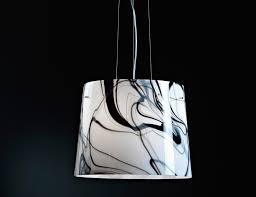 Murano Glass Lighting Pendants by Nella Vetrina Black And White So 3048 Modern Murano Hanging Light