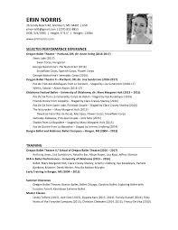 Ballet Resume