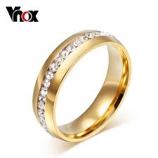aliexpress buy vnox 2016 new wedding rings for women vnox classic gold color wedding ring for women 6mm