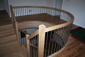 Metal Landing Banister And Railing Curved Handrails Wooden Handrails Made To Order