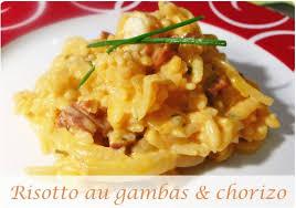 cuisiner des gambas risotto au gambas et chorizo chefnini