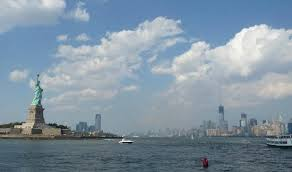 Pedestal Access To Statue Of Liberty View Of Statue Of Liberty And Manhattan Skyline Picture Of