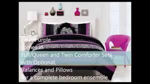 Queen Zebra Comforter Posh Purple Zebra Print Bedding For Teenage Girls Youtube