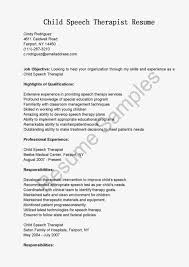 Sample Speech Pathology Resume by Resume Example Language Skills Virtren Com